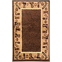 Rugs 4 Less Collection Cowboy Western Cabin Style Lodge Door Mat Area Rug Design R4L 375 (2X3)