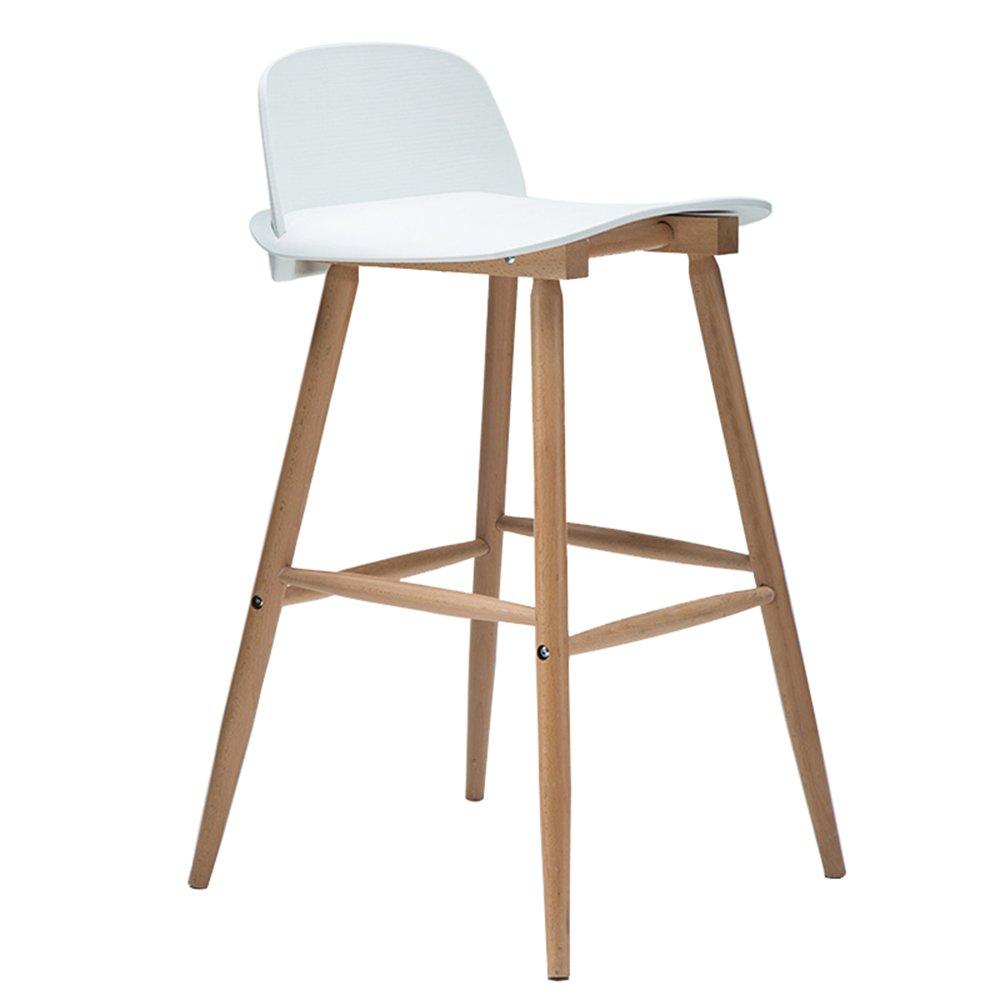 バースツールスカンジナビアのソリッドウッドバーの椅子現代のシンプルなバーチェアのフロントデスクハイチールの家ファッションバーのスツール53 * 49 * 76(多色) (色 : A) B07DBP5PWVA