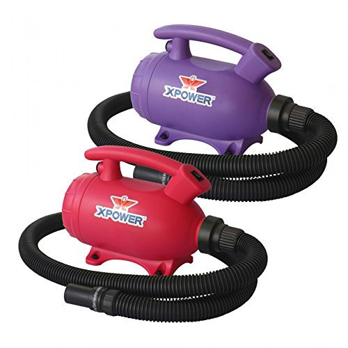 - XPOWER B-55-2 HP Portable Home Dog Dryer Special 2-Pack (Purple & Pink)