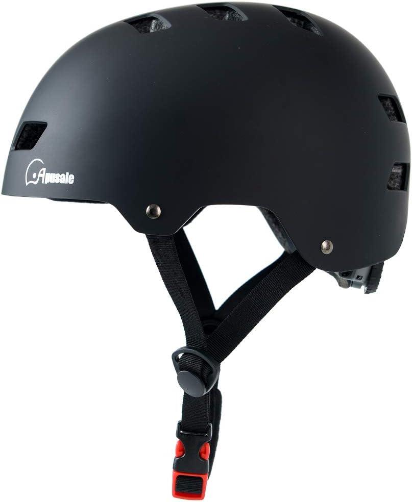 Apusale Skateboard Helmet,Kids Youth Adult Bike Helmet,for Scooter Cycling Roller Skate,3 Adjustable Size for Child Men Women,CPSC Certified