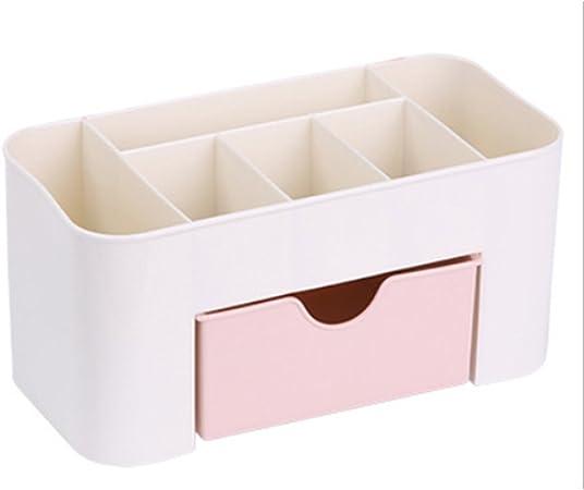 CDKJ- Organizador de maquillaje de escritorio, caja de almacenamiento de plástico, organizador de cosméticos, estuche de almacenamiento: Amazon.es: Hogar