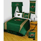 NHL Minnesota Wild Hockey Team 4pc Twin Bedding Set