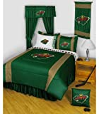 NHL Minnesota Wild Comforter Set 3 Pc Queen Hockey Bedding