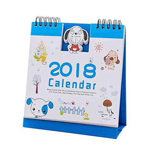 Halloween Cute Wallpapers Desktop (Euone 2018 Cute Cartoon Animal Desk Desktop Calendar Flip Stand Table Office Planner)