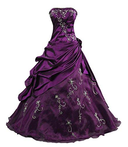 Abschlussball Kmformals Ballkleid Kleid Lila Damen Kleider Formales Prom FwqETP