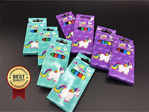 regalini fine festa bambini compleanno  8x ogni 6 Unicorn Unicorn Crayons / penne per la pittura e disegno ...