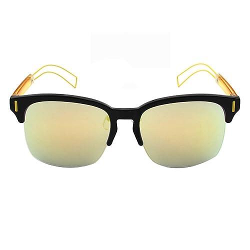 Tendencia ASDYO Hombres Y Mujeres Huecas Gafas De Sol Grandes Del Marco Opcional Multicolor