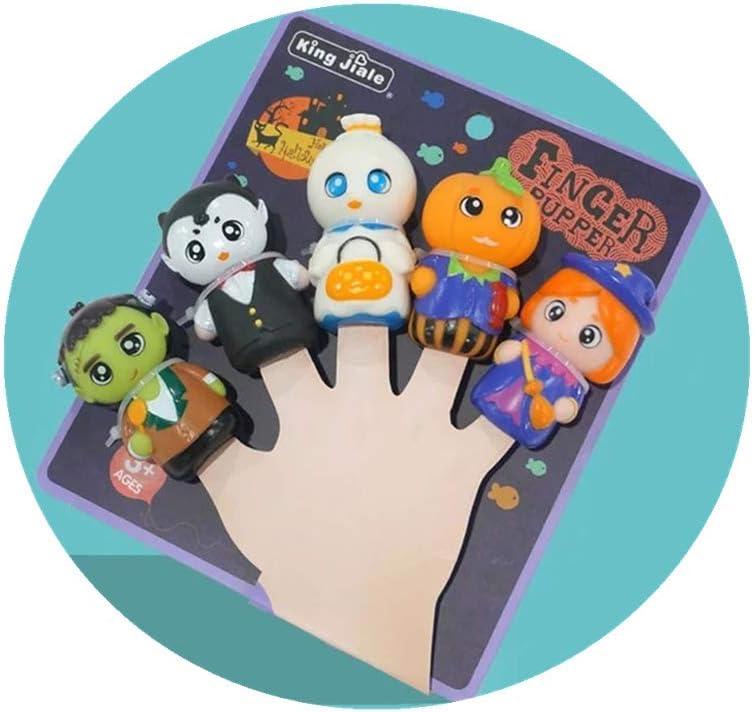 Fingerpuppen Kinder Tier Handpuppen Set Halloween Gummi Fingerpuppen Set f/ür Baby und Kinder Animals Rubber Finger Puppet Set for Halloween 5 St/ücke