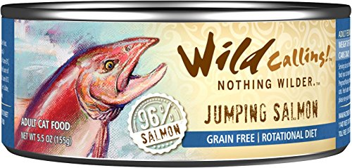 Wild Calling Canned Cat Food - Jumping Salmon 96% Salmon - 5
