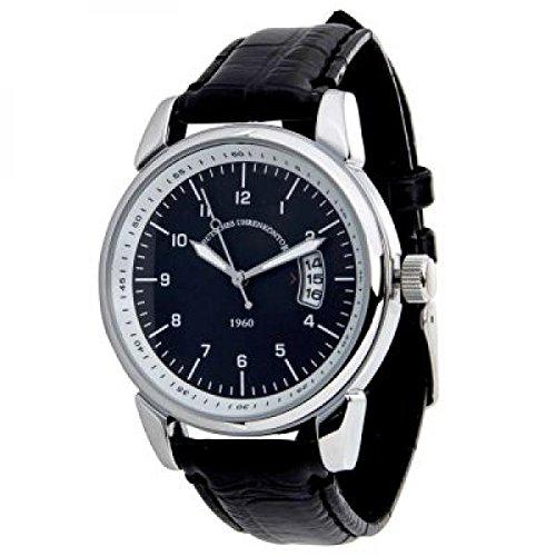 alemán Reloj Kontor Reloj de pulsera Mod. 1960 Negro