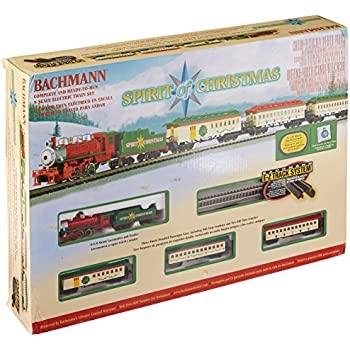 bachmann spirit of christmas ready to run electric train set n scale