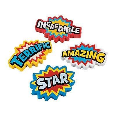 Superhero Erasers - 24 pcs -