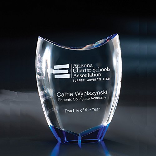 - Custom Crystal Etched Award, 8 1/2