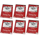 """9"""" x 12"""" Studio 71 Tracing Pads, 100 Sheets (Pack of 6)"""