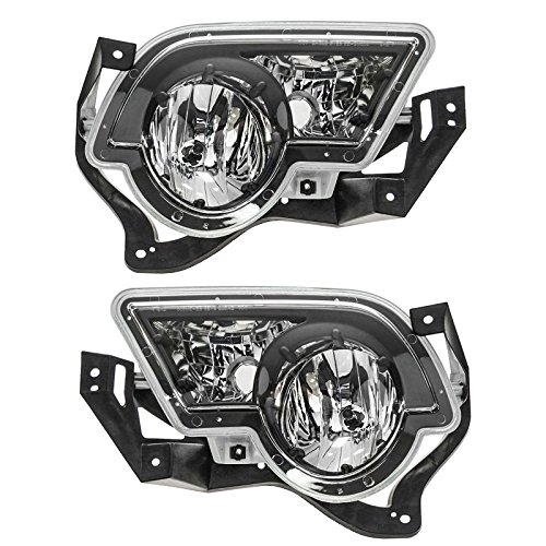 02 Fog Lamp Auto Car - Fog Driving Lights Lamps Left & Right Pair Set for 02-06 Avalanche Pickup Truck