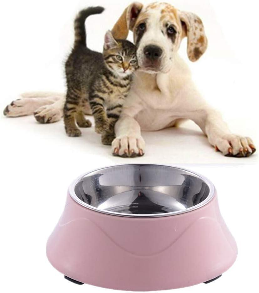 lffopt Comedero Perro Comedero Gato Cuencos para Perros Antideslizantes Gato taz/ón de Agua Gato tazones de pl/ástico Cuencos para Perros medianos Blue
