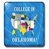 Beverly Turner College in - United States Map, College in Oklahoma, Heart and Car with Luggage - Light Switch Covers - double toggle switch (lsp_233551_2)