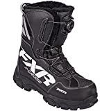FXR X-Cross BOA Boot Authentic High Traction Fixed Liner Toe Kick Snowmobile - Black - Mens 6 / Womens 8