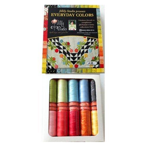 Aurifil Thread Set EVERYDAY COLORS by Jill Finley 50wt Cotton 10 Small Spools 220yd each
