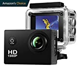 Action Camera,Dash Cam,Amuoc 4K 16MP Ultra HD 170°Wide Angle/ 2'' LCD IPS Screen/ Add 2.4G Remote/ 30m Waterproof / WiFi Underwater Video Cam for Cycling With 16 Accessories Kits