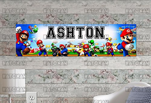 Customized Name Painting Super Mario Brothers Poster With
