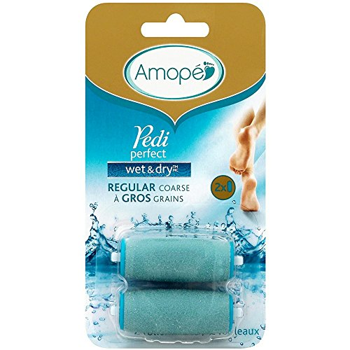 Amopé Pedi Perfect Wet & Dry Rechargeable Foot File Refills, 2 Count, Regular Coarse (Pack of 2)