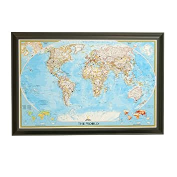 amazon classic world push pin travel map with black frame and pins