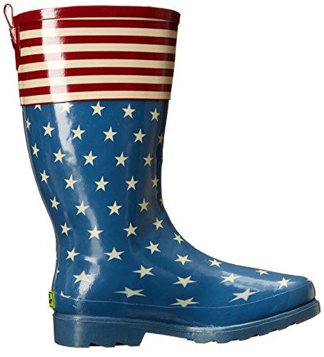 Chief Flag Women's Top Pop Printed Western Boot Tall Rain Waterproof dCZdx60