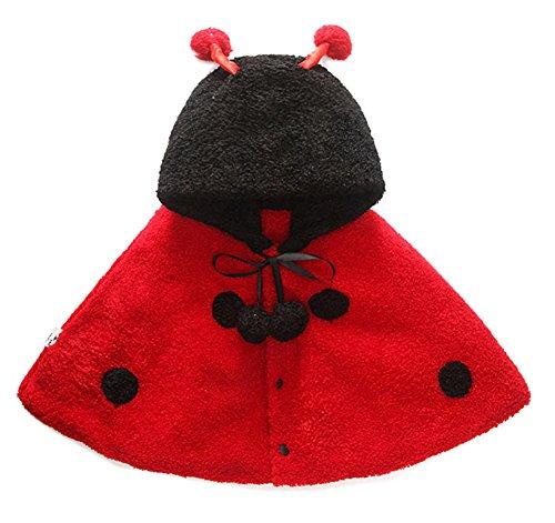 Ikerenwedding Baby Kids Toddler Animal Hooded Cape Cloak Poncho Hoodie (Ladybug Cape Costumes)