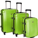 Traveler's Choice Freedom 3-Piece Lightweight Luggage Set, Apple Green (20