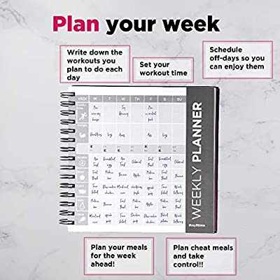 amazon com fitime fit planner fitness journal and planner for