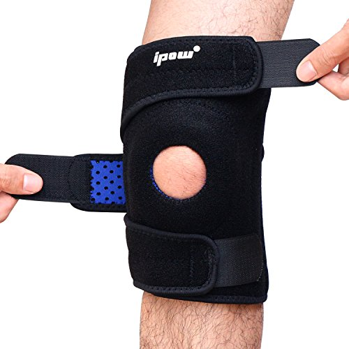Ipow Breathable Knee Support, Non-slip Knee Brace Sleeve Wraps with Stabilizer and (Neoprene Sports Knee Brace)