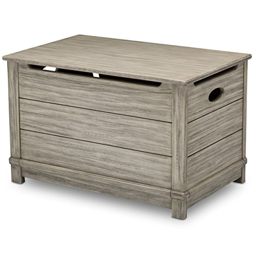 (Delta Children Monterey Farmhouse Hope Chest Toy Box, Rustic White )