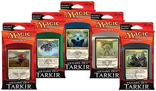 Khane von Tarkir – Intro Decks-Set  Alle 5 Decks + Folien + 10 Booster Packungen Magic The Gathering MTG KTK Karte Spiel von Magic  The Gathering