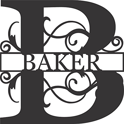 Letters Name Decor (AJD Designs Personalized Last Name B Door Hanger - 20