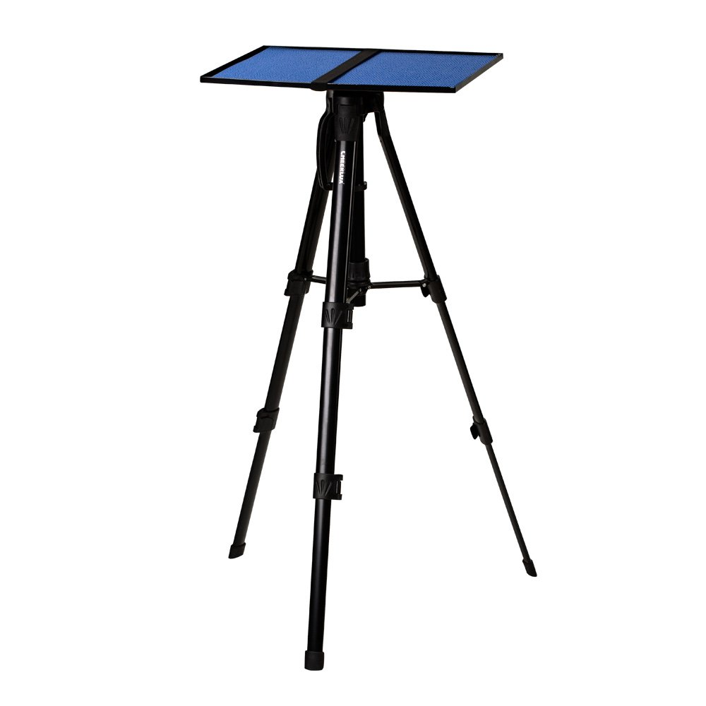 Projector Tripod Stand Cheerlux Height Adjustable 16-47 for Projector Laptop in Office Classroom Home with Plate Tray Black Color