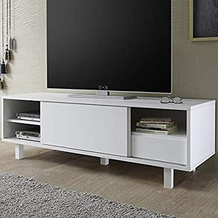 Kasalinea – Mueble TV Design Blanco Laca Mate Arsene: Amazon.es: Hogar