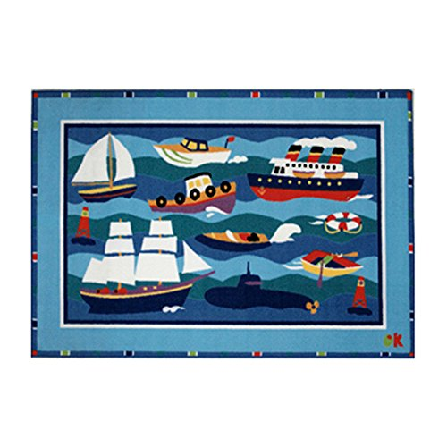 Boats Kids Olive - Fun Rugs Olive Kids Boats And Bouys Home Decorative Accent Area Rug 19