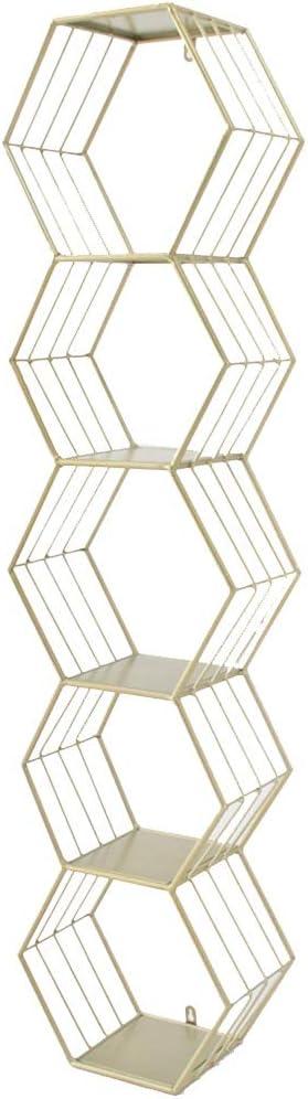 ZhaoXH-Baldas flotantes El Hierro Forjado Estante de Almacenamiento de Pared Montados En La Pared de Celosía Decorativo Hexagonal Estante Estantes Flotantes Negro Unidad de Almacenaje del Organizador