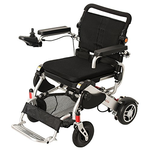 23 Power Wheelchair - F KD FoldLite Folding Electric Power Wheelchair FDA Approved, Portable and Lightweight, with CNC Front Fork, Weight Capacity: 253 lbs.