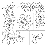 17''x 20'' Hyacinth Quilting Stencil in 4'' & 5'' Borders, 5'' Triangle and 6'' Block - UE1904