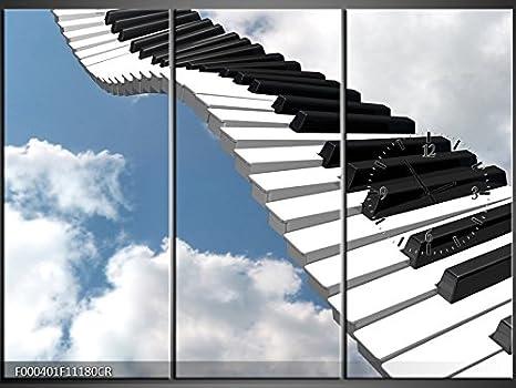 Orologi Da Parete In Tela : Tlg tela foto orologio da parete pianoforte a cielo murale su