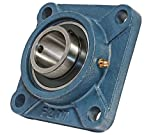 35mm Mounted Bearing UCF207 + Square Flanged Cast Housing