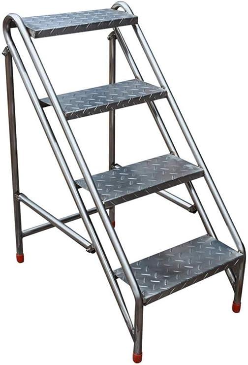 Taburete Escalera Industrial 4 Tread portátil Plegable Escalera Plegable heces, heces del hogar Escalera de Acero Inoxidable Herramienta de jardín Hogar: Amazon.es: Hogar