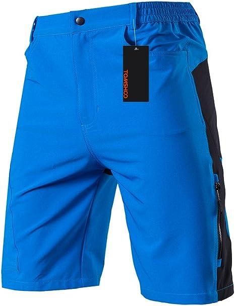 TOMSHOO Pantalones Cortos de MTB para Hombres, Pantalones Cortos ...