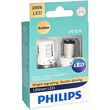 Philips 2357 Ultinon LED Bulb (Amber), 2 Pack