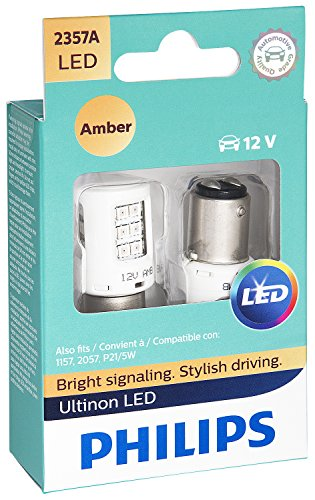 Philips 2357 Ultinon LED Bulb (Amber), 2 Pack