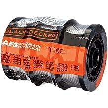 Black + Decker af-100–3zp 30-Feet 0.065-inch Line cadena carrete Trimmer Repuestos, 3-Pack, Negro