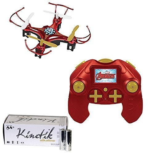 Marvel 33758 4.5-Channel 2.4ghz Iron Man Micro Drone & Upg 50 Pk Aa 30.00in. x 20.00in. x 16.00in.