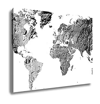 Wood World Map Cut Out.Amazon Com Ashley Canvas World Map Cut Out In Antique Grunge Wood
